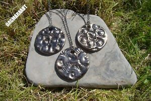 Wow Large AMMONITE Fossil Pendant Necklace Ceramic Pottery Handmade GIFT