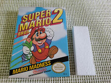 Super Marios Bros 2 - Nintendo - NES - Authentic - Box Only - Oval Seal!