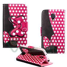 Custodia cover stand Topolina Pois rosa per Samsung Galaxy S4 mini i9195 case