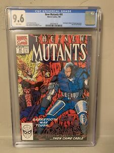 The New Mutants #91 CGC 9.6 NM+ Cable Sabretooth