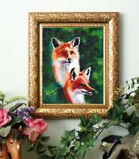 Reynolds RED FOX Soul MATES Red Fox Print Antique Styl Framed 11x13 horse