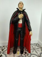 Vintage Large Christopher lee Dracula  Statue Figure Film Movie Fun Fair Prop