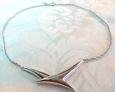 TRIFARI  HANGTAG WHITE GOLDPLATED BRD IN FLIGHT CHOKER NECKLACE ESTATE JEWERLY