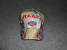Rebel Pride Embroidered Flames Camo Baseball Cap