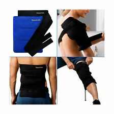 Ice Packs for Injuries Reusable Large Hot Cold Gel Pad Wrap w/Strap for Back ...
