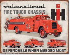 Blechschild 31 x 40, International Fire Truck Chassis, USA Werbeschild Art.#1680