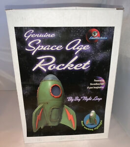 "COOL ROCKETS SPACE AGE ROCKET ""BIG BOY"" NIGHT LAMP SCULPTURE # 1007 JEFF BREWER"