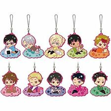 NEW Yuri!!! on Ice Sweet Time Rubber Charm Strap 10pics Japan Freeshipping