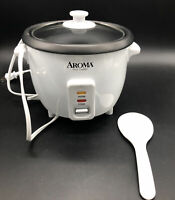 Rice Cooker 6 Cup Aroma Steamer Non Stick Pot Automatic Warmer Electric White