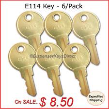 E114 Dispenser Key for Paper Towel, Toilet Tissue Dispensers - (6/pk.)