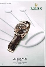 Publicité Advertising 2014 La Montre Rolex Oyster Perpetual Day-Date