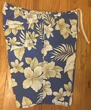 Tommy Bahamas Relax Fit Swim Trunks Size Large Hawaiian Hibiscus Flower Shorts