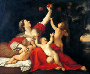 Fertility by Francesco Albani Giclee Art Oil painting HD printed on canvas L3074
