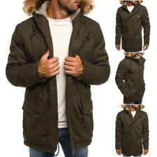 Cappotti e giacche da uomo stile parka verde con cerniera