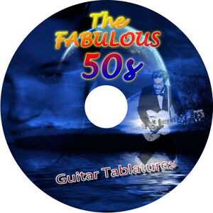 50s 50's GUITAR TAB CD TABLATURE SONG BOOK GREATEST HITS BEST ROCK'N ROLL MUSIC