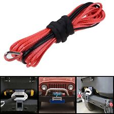 "1/4""50' Synthetic Dyneema Winch Cable Safe Rope Recovery For SUV ATV UVT  RED"