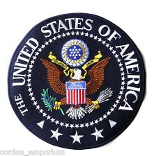 UNITED STATES OF AMERICA USA GREAT SEAL LARGE EMBROIDERED PATCH 10 INCHES