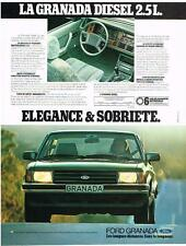 PUBLICITE ADVERTISING  1983   FORD  GRANADA     la DIESEL 2.5L
