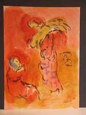 "Marc Chagall / Dessins pour la Bible ""Ruth the glean"" Orig. Lithografie v. 1960."