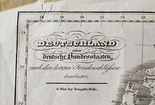 Alt,- Hand- u. Grenzkolorierte Karte von Deutschland, Tranquillo Mollo, ca. 1820