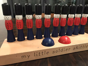 children's traditional wooden soldier skittles White Company