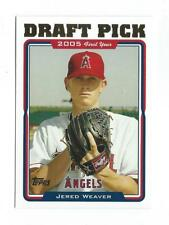 2005 Topps Update #312 Jered Weaver RC Rookie Angels