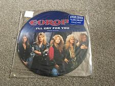 "EUROPE - I'LL CRY FOR YOU - 1991 12"" PICTURE DISC SINGLE - LOOK IN MY EBAY SHOP!"