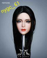 YMTOYS YMT049b 1/6 Asia Girl Head Carving Straight Hair fit 12'' Phicen Figure