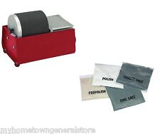 3 LB Rotary Rock Tumbler Polisher With Abrasive Grit Kit Smooth Stones Jewelry