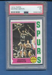 1974 Topps George the  Iceman Gervin rc PSA 5