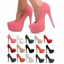 Stiletto Clubwear Faux Suede Court Shoes for Women