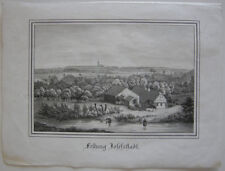 Festung Josefstastadt Josefov Jaromer Tschechien Orig. Lithografie Bürger 1845