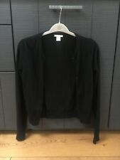 H&M Basics Black Cotton With Buttons Cardigan Long Sleeves