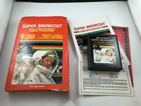 Super Breakout  Atari 2600 - Cartridge Box + Manual Tested Complete Rare clean