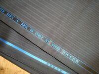 """5 yd HOLLAND SHERRY WOOL FABRIC Drago Super 130s 8.5 oz Charcoal 180"""" BTP"""