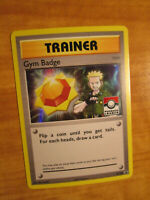 NM LEAGUE Pokemon LT SURGE'S GYM BADGE Card BLACK STAR PROMO Trainer XY205 Holo