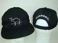 NOS Vintage 90's Joe CAMEL Black Snap Back BASEBALL CAP HAT. Embroidered. NEW