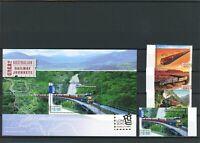 Australien MiNr. 3376-79, Block 102 postfrisch MNH Eisenbahn (Eis1241