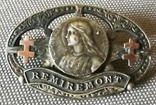 Medaille broche medal brooch religieuse ancienne Bienheureuse Jeanne d'Arc