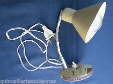 Lampe de chevet bureau ancienne fer tôle prise interrupteur électrifié