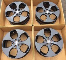 "17"" Jaguar XE OEM Wheels Rims Gloss Black Factory 17x7 GX731007BB GX73-1007-BB"