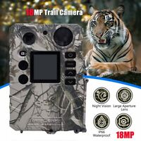 Trail Wildlife Camera 18MP Trap Game Hunting Cam IR Night Vision Motion Activate