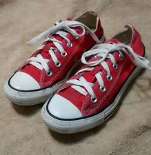 Converse ALL STAR Red Sneakers ChuckTaylor Unisex Canvas LowTop Mens 4 Women's 6