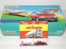 1980`s Majorette 300 Series  Renault 25 Red metallic with boat + outer trade box
