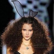 Lace Rabbit Bunny Ears Headband Eye Mask Hen Party Halloween Fancy Dress Cosplay