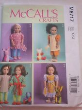 "McCall's Sewing Pattern #6717 - 18"" Doll clothes"