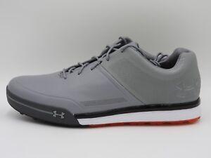 UA Under Armour Tempo Hybrid 2 Golf Shoes 3000219-101,Gray,Men's 8,8.5,11,13