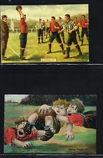 Postcard, Sport, rugby / football