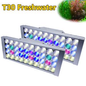 2PCS Dimmable LED Aquarium Light For Freshwater Plants Fish Tank LED Lighting