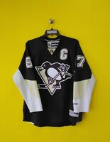 🐧 PITTSBURGH PENGUINS # 87 SIDNEY CROSBY VTG REEBOK NHL HOCKEY JERSEY MENS- XL